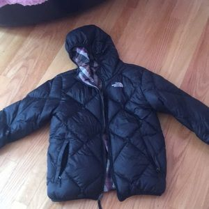 North face puffer jacket REVERSABLE
